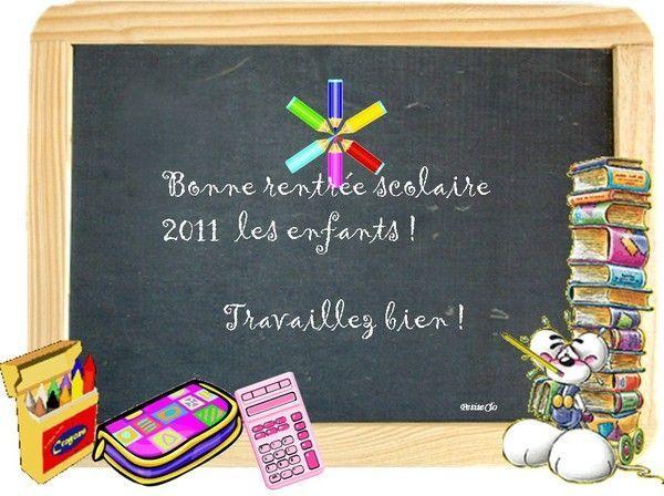Bonne rentrée scolaire !